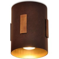 Solo   cylindrical halogen ceiling light