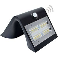 Wave M   LED solar wall light with a sensor  black