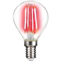 LED bulb E14 4 W filament  red