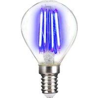 LED bulb E14 4 W filament  blue