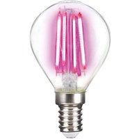 LED bulb E14 4 W filament  magenta