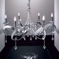 Six bulb crystal chandelier OPERA