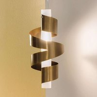 Phoenix hanging light with polished bronze metal