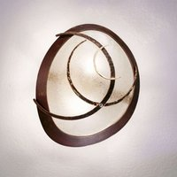 Beautifully shaped wall light Galassia  rust