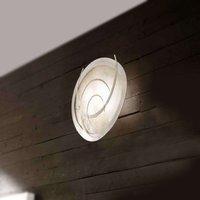 Beautifully shaped wall light Galassia  white