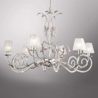 Silver plated chandelier Corinto  6 bulb