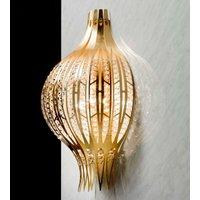 Gold wall light Jasmine with Swarovski elements