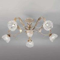 Artica ceiling light with Murano glass