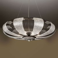 Pendant light Marrakech with silver leaf