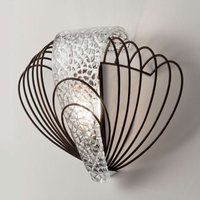 Delicate wall light Marrakech with silver leaf
