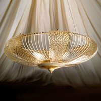 Gold etched hanging light Marrakech