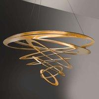 Loop designer pendant light in gold