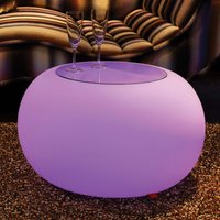 Table BUBBLE Indoor RGB LED   glass panel