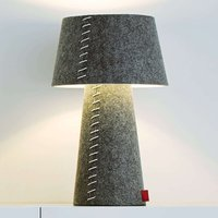 Alice   grey LED table lamp with felt casing