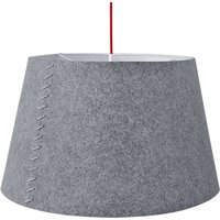 Alice   grey LED hanging light with felt cover