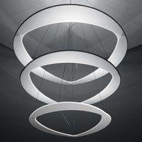 White Diadema designer hanging light with LEDs
