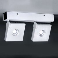 Rotatable pivotable LED wall light Bridge two bulb