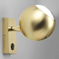 Futuristic LED wall light Bo La in gold