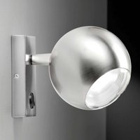 Stylish LED wall light Bo La  nickel look