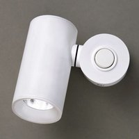 White dual cylinder LED wall light Tub