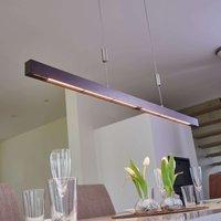 Nora LED linear pendant lamp made of oak