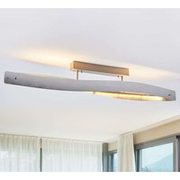 Glossy silver Lian LED ceiling lamp   dimmable
