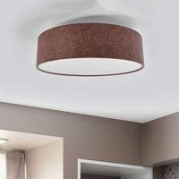 Gala ceiling light  60 cm  beige brown felt shade