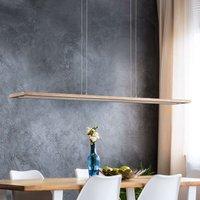 Cyra natural wood LED hanging light  138 cm