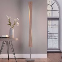 Lucande Lian LED floor light  oak wood