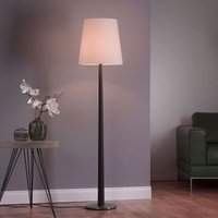 Lucande Elif floor lamp white  conical dark oak
