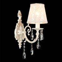 Ivory coloured lace wall light Filomena