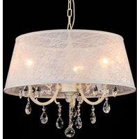 Filomena   hanging light with elegant lace shade