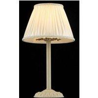 Table lamp Olivia with cream coloured satin shade