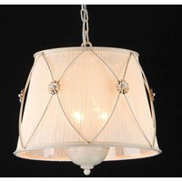Organza pendant light Lea with crystal flowers