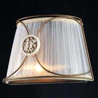 Letizia   organza wall light with angel motif