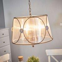 Hanging lamp Letizia  translucent organza shade