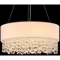 Ornamented Manfred fabric hanging light   45 cm