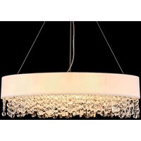 Oval Manfred fabric pendant lamp