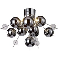 Futuristic ceiling light Wakusei  chrome