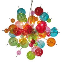 Colourful glass pendant light Aurinia