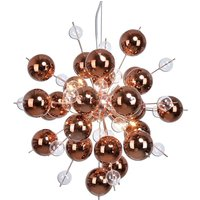 Explosion   pendant light with copper spheres