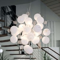 Interesting Explosion pendant lamp in white chrome