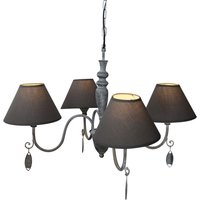 Antique grey hanging lamp Susana
