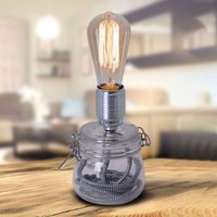 Max table lamp with a glass base
