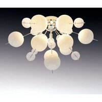 Explosion ceiling light in white and chrome