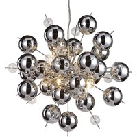 Wakusei glass hanging light 65 cm chrome
