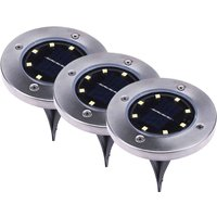 Ronda LED solar ground spike light  set of 3