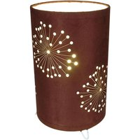 Aurona table lamp made of brown fabric