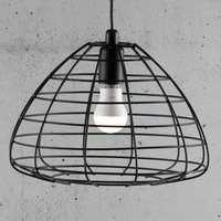 Esk hanging light with open metal shade