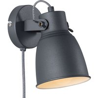 Adrian wall light with cable and plug  black